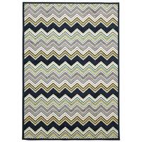 Rug Culture Indoor Outdoor Chevron Flooring Rugs Area Carpet Navy 230x160cm