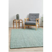 Rug Culture Chunky Natural Fiber Barker Blue Flooring Rugs Area Carpet 320x230cm