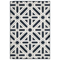 Rug Culture Indoor Outdoor Xenia Flooring Rugs Area Carpet Navy 330x240cm