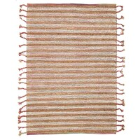 Braids Wool Jute Flat woven White Flooring Rug Area Carpet 280x190cm