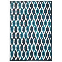 Rug Culture Indoor Outdoor York Flooring Rugs Area Carpet Blue Navy 330x240cm