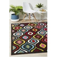 Rug Culture Lorenzo Modern Multi Coloured Runner 300x80cm