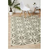 Rug Culture Dandelion Flat Weave Flooring Rugs Area Carpet Grey 225x155cm