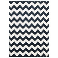 Rug Culture Indoor Outdoor Zig Zag Flooring Rugs Area Carpet Navy 290x200cm
