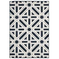 Rug Culture Indoor Outdoor Xenia Flooring Rugs Area Carpet Navy 290x200cm