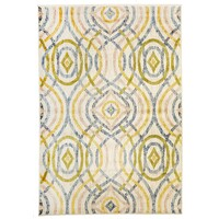 Ellis Modern Flooring Rug Area Carpet Cream 230X160cm