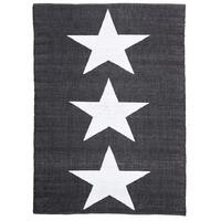 Rug Culture Coastal Indoor Out door Flooring Rugs Area Carpet Star Black White 270x180cm