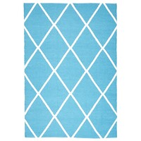 Rug Culture Coastal Indoor Out door Flooring Rugs Area Carpet Diamond Turquoise White 270x180cm