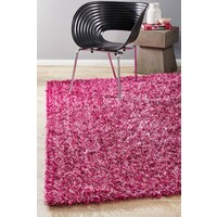 Rug Culture Metallic Noodle Shag Flooring Rugs Area Carpet fuchsia 165x115cm