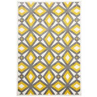 Rug Culture Indoor Outdoor Nadia Flooring Rugs Area Carpet Grey Yellow 290x200cm