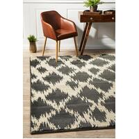 Rug Culture Morrocan Diamond Design Flooring Rugs Area Carpet Charcoal 290x200cm
