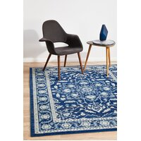 Rug Culture Release Navy Transitional Runner 400x80cm