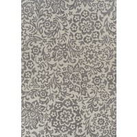 Indoor Outdoor Damask Flooring Rug Area Carpet Cream Grey 270x180cm