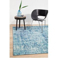 Rug Culture Muse Blue Transitional Flooring Rugs Area Carpet 400x300cm