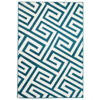 Rug Culture Indoor Outdoor Dolce Flooring Rugs Area Carpet Peacock Blue 330x240cm
