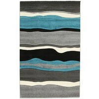 Rug Culture Stunning Thick Wave Flooring Rugs Area Carpet Blue Grey 170x120cm