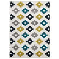Rug Culture Indoor Outdoor Pixel Flooring Rugs Area Carpet Blue Green White 290x200cm