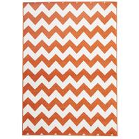 Rug Culture Indoor Outdoor Zig Zag Flooring Rugs Area Carpet Orange 230x160cm