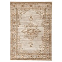Rug Culture Kings Court Designer Runner Ivory Beige 400X80cm