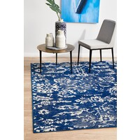 Rug Culture Donna Navy Transitional Flooring Rugs Area Carpet 230x160cm
