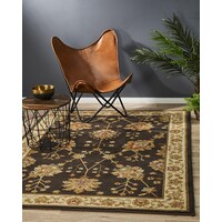 Rug Culture Classic Chobi Design Flooring Rugs Area Carpet Brown 330x240cm
