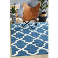 Rug Culture Cross Hatch Modern Flooring Rugs Area Carpet Blue 230x160cm