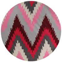 Ikat Chevron Pink Flooring Rug Area Carpet 200x200cm