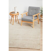 Luxe Modern Distressed Flooring Rug Area Carpet Latte 280x190cm