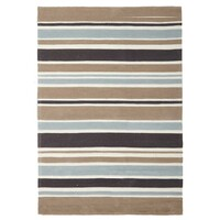 Rug Culture Soft Blue and Taupe Stripe Flooring Rugs Area Carpet - 220x150cm