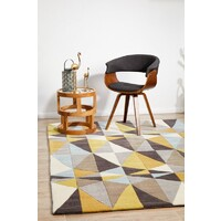 Yellow and Sky Blue Crystal Design Flooring Rug Area Carpet 280x190cm