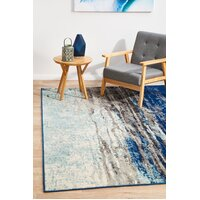 Rug Culture Transpose Blue Transitional Runner 400x80cm
