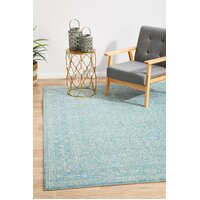 Rug Culture Depth Blue Transitional Runner 500x80cm
