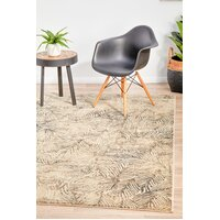 Rug Culture Artistic Nature Modern Charcoal Runner 300x80cm