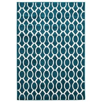 Rug Culture Indoor Outdoor Neo Flooring Rugs Area Carpet Peacock Blue 330x240cm