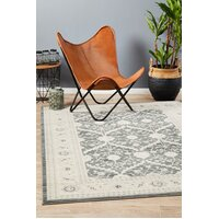 Chobi Design Flooring Rug Area Carpet Navy Grey Bone 230x160cm