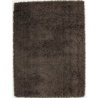Lara Shag Flooring Rug Area Carpet Dark Taupe 165x115cm