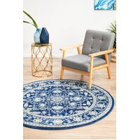 Rug Culture Release Navy Transitional Flooring Rugs Area Carpet 240x240cm