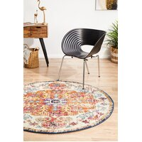 Rug Culture Carnival White Transitional Flooring Rugs Area Carpet 200x200cm