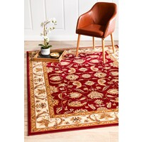 Rug Culture Stunning Formal Floral Design Runner Red 300x80cm