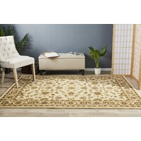Rug Culture Classic Flooring Rugs Area Carpet Ivory with Ivory Border 170x120cm