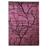 Branch Silhouette Design Flooring Rug Area Carpet Purple 170x120cm