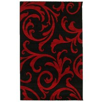 Stunning Thick Damask Runner Black 400x80cm