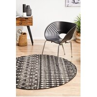 Rug Culture Simplicity Black Transitional Flooring Rugs Area Carpet 150x150cm