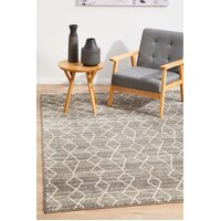 Remy Silver Transitional Flooring Rug Area Carpet 230x160cm