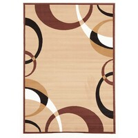 Cool Beige and Brown Border Pattern Flooring Rug Area Carpet 330x240cm