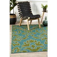 Rug Culture Aspen Damask Outdoor Flooring Rugs Area Carpet 320X230cm
