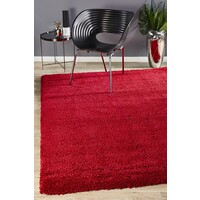 Rug Culture Thick Soft Polar Shag Runner - Rouge 400x80cm