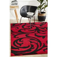 Stunning Thick Damask Flooring Rug Area Carpet Red 170x120cm