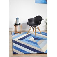 Blue Crystal Prism Flooring Rug Area Carpet  280x190cm