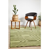 Rug Culture Circuit Board Green Flooring Rugs Area Carpet 225x155cm